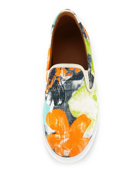 Demi Printed Canvas Skater Slip-On