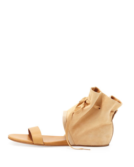 See by Chloe Suede Ankle Cuff Sandal, Natural