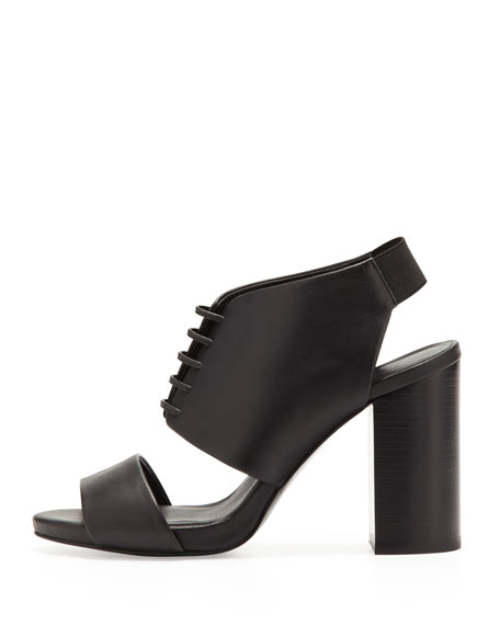 Lace-Up Bootie Sandal with Block Heel