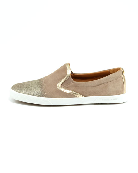 Demi Degrade-Suede Skater Slip-On