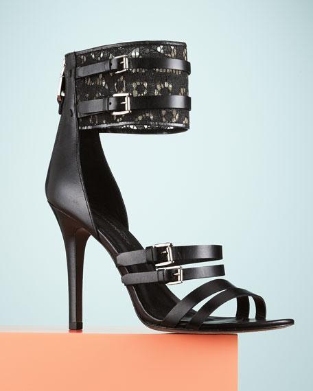 Miller Lace-Cuff Sandal