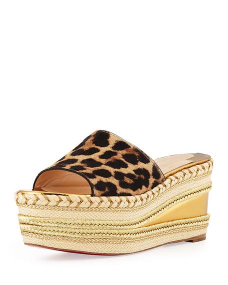 Myriama Platform Wedge Sandal, Leopard