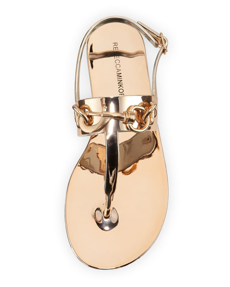 Petra Electroplate Jelly Sandal, Rose Gold