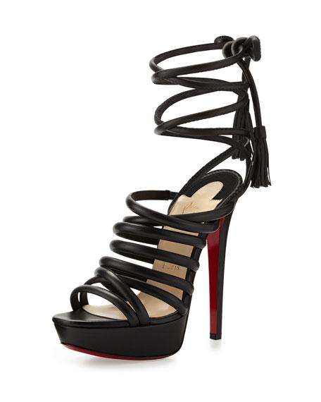 Top Tina Platform Ankle-Tie Sandal