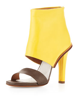 Maison Martin Margiela Bicolor Leather High-Heel Sandal