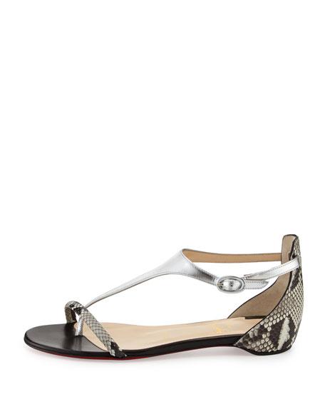 Athena T-Strap Combo Flat Sandal