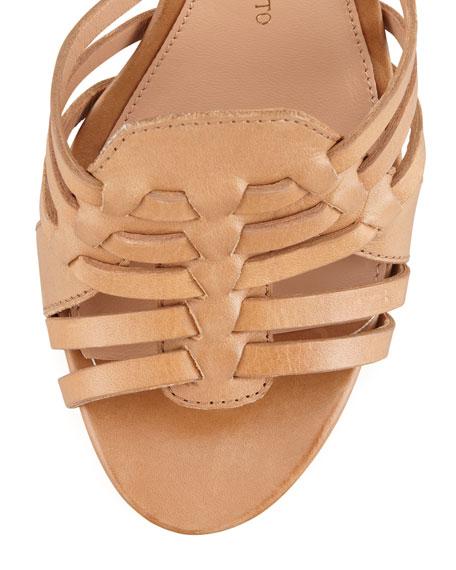 Barbara Platform Huarache Sandal, Camel