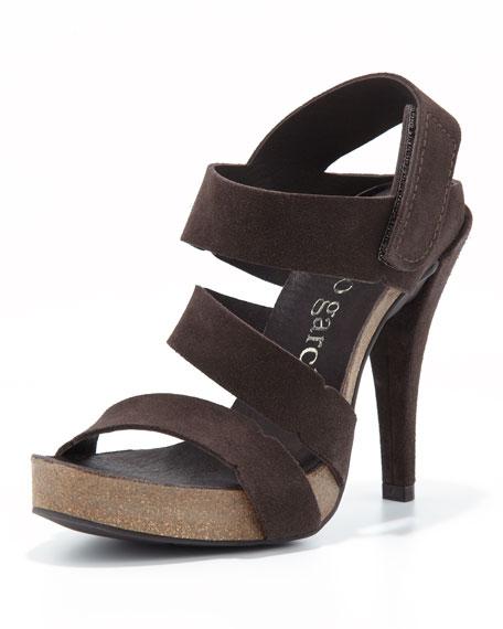 Prissy High-Heel Strappy Sandal, Smog