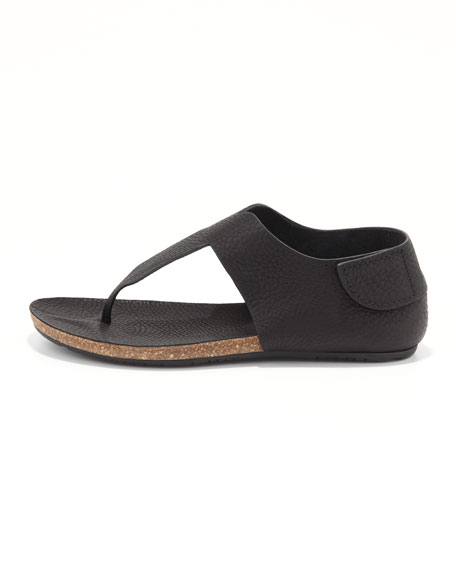 Julia Flat Thong Sandal, Black