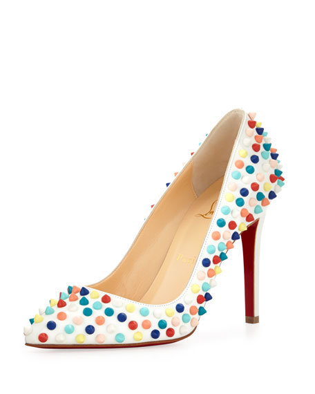 aacd8c9ce7d0 Christian Louboutin Pigalle Spikes Red Sole Pump