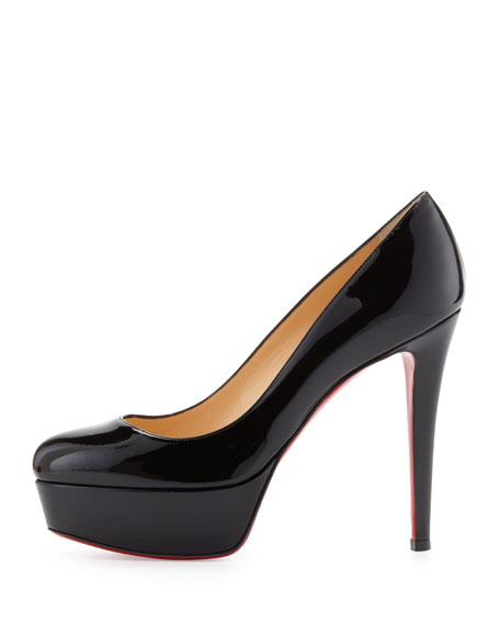 Bianca Patent Leather Platform Pump, Black