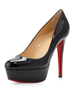 Christian Louboutin Bianca Patent Leather Platform Pump, Black