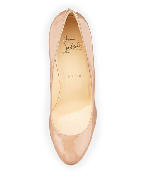 Bianca Patent Leather Platform Pump, Nude