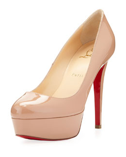 Christian Louboutin Bianca Patent Leather Platform Pump, Nude