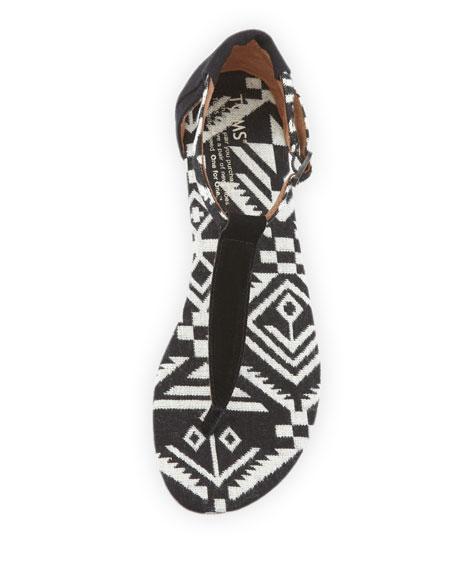Geometric Woven Playa Sandal