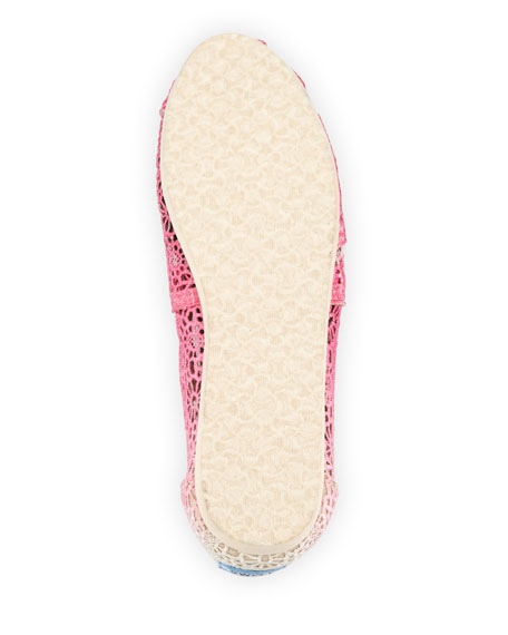 Ombre Crochet Slip-On, Fuchsia