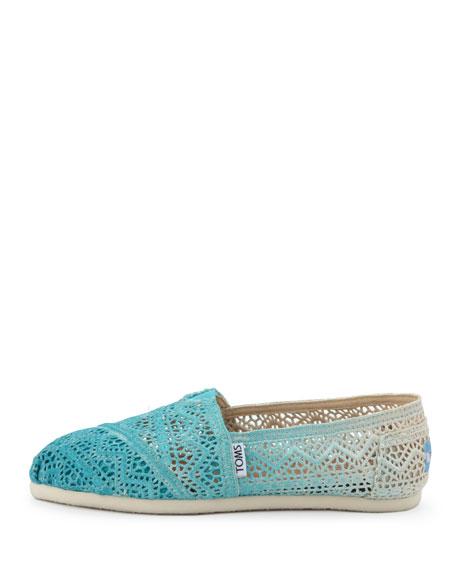 Ombre Crochet Slip-On, Turquoise