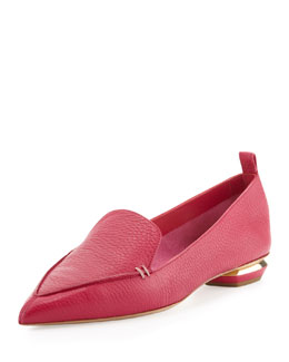 Nicholas Kirkwood Pebbled Point-Toe Loafer