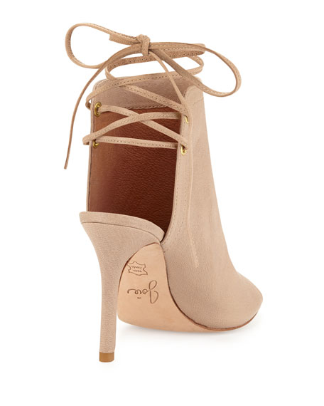 Lexington Peep-Toe Bootie, Dusty Pink Sand