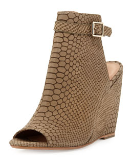 Joie Windsor Snake-Print Wedge Sandal