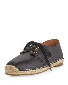 Joie Hemlock Leather Espadrille Sneaker, Black