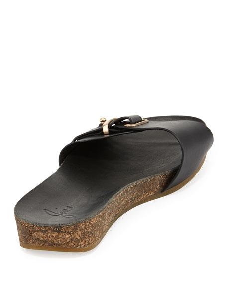 Maddux Leather Buckle Slide Sandal