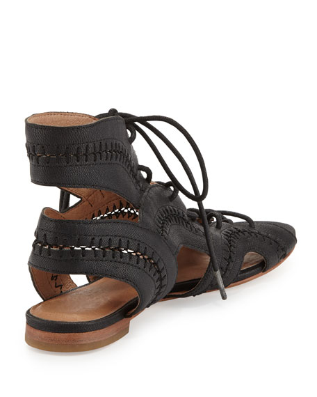 Toledo Lace-Up Flat Sandal