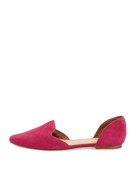 Florence Suede d'Orsay Flat, Bougainvillea Pink