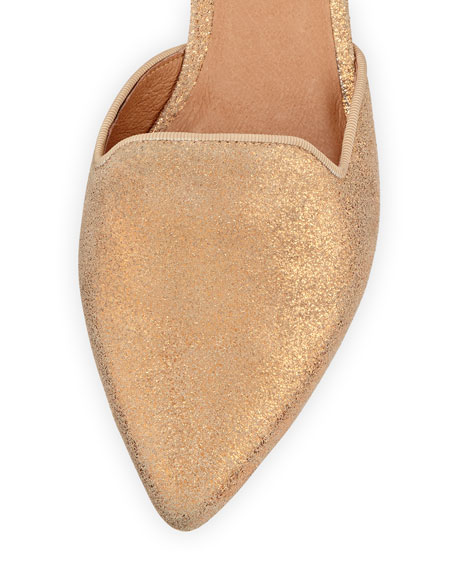 Florence Shimmery d'Orsay Flat, Rose Gold