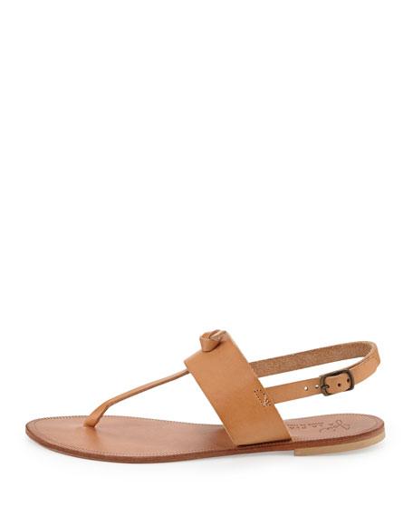 Bastia Knot Thong Sandal, Natural
