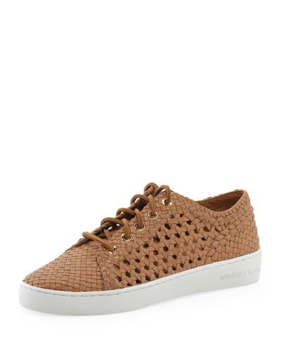 Violet Woven Low-Top Sneaker