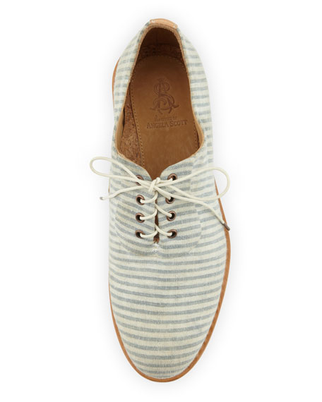 Mr. Hampton Striped Seersucker Oxford