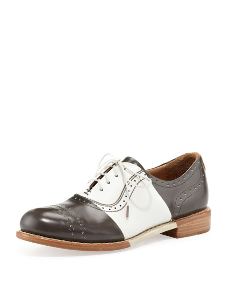 Mr. Presley Bicolor Oxford, White
