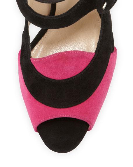 Sentinel Bicolor Double-Buckle Sandal