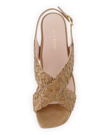 Orla Woven Leather Sandal, Vachetta