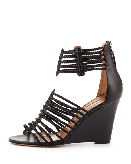 Venus Strappy Wedge Sandal, Black