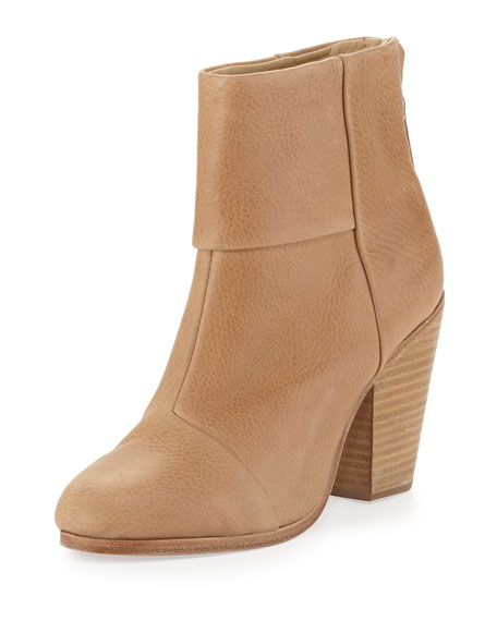 Newbury Leather Ankle Boot, Sable