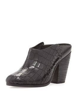 Rag & Bone Enid Crocodile-Stamped Mule