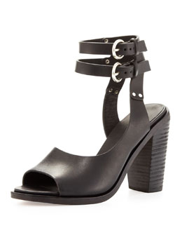 Rag & Bone Tulsa Double-Ankle-Strap Sandal, Black