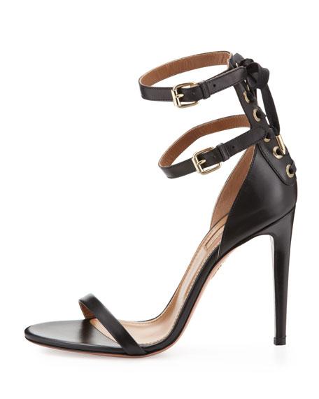 Saharienne Double-Strap Sandal, Black