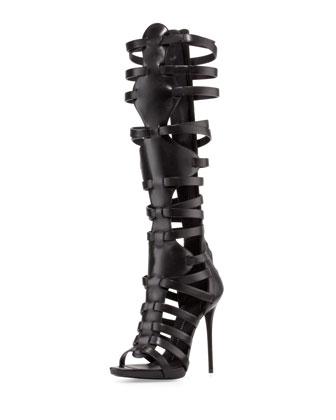 Sale alerts for Giuseppe Zanotti High-Heel Caged Knee Sandal - Covvet