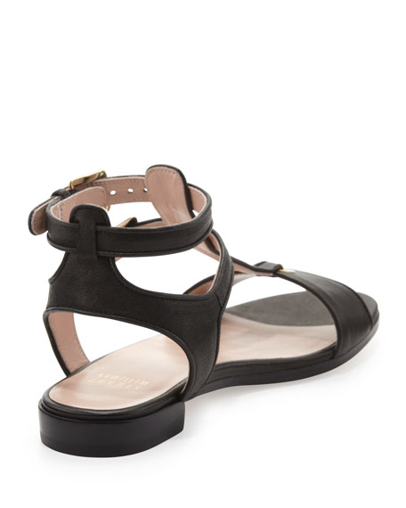 Artsy Flat T-Strap Sandal, Black
