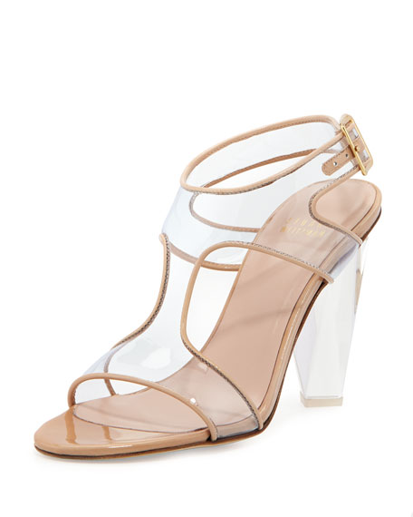 Seeall Transparent Sandal, Adobe