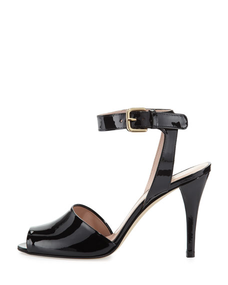 Waycool Patent Leather Sandal, Black