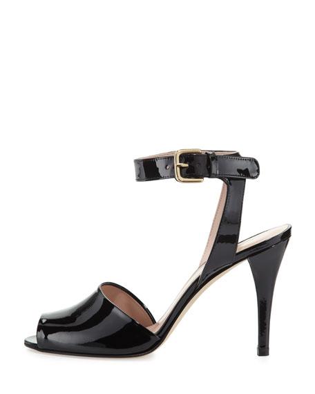 Waycool Patent Leather Sandal, Black