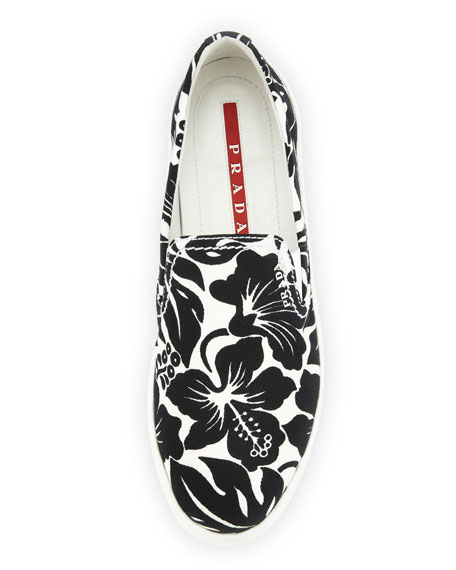 Floral-Printed Slip-On Sneakers