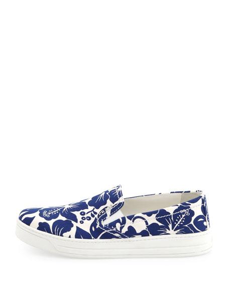 Floral-Printed Slip-On Sneaker