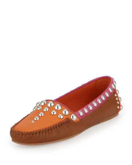 Studded Nappa Moccasin