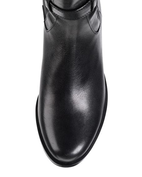 Air Avalon Triple-Buckle Leather Boot, Black