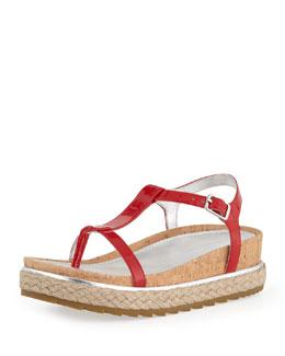 Donald J Pliner Cleo Patent Thong Sandal, Tomato